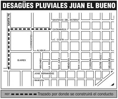 Iniciaron la obra de desagües pluviales en Barrio Juan el Bueno